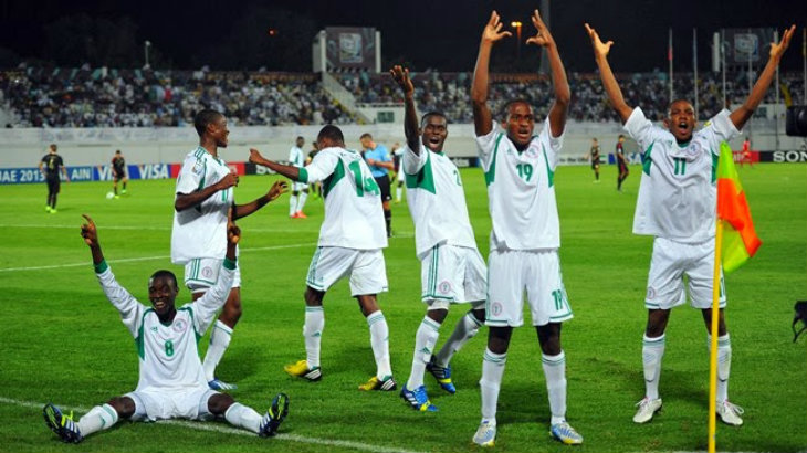 Victorious Golden Eaglets of Nigeria under 17 World Cup UAE 2013