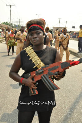They were also at CarniRiv - the repentant Niger Delta Militants
