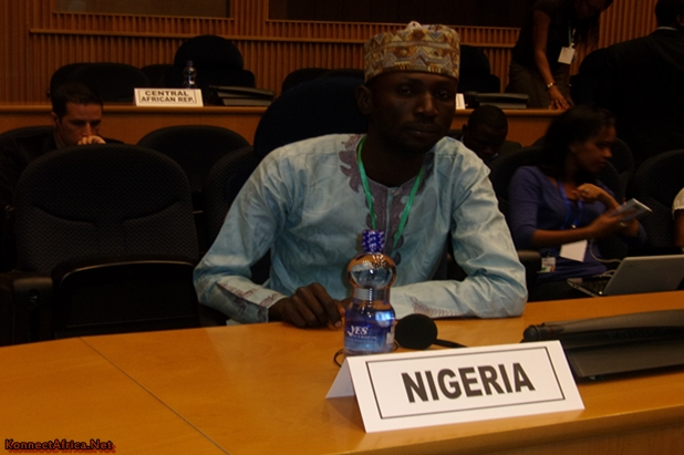 Representing Nigeria at the Opening Ceremony of African Youth Forum at the AU Headquarters in Addis Ababa, Ethiopia.