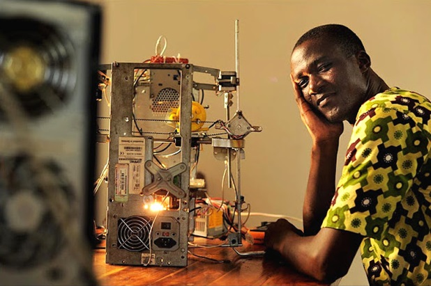 Kodjo Afate Gnikou- is the Inventor of the World's First Functional 3-D Printer From E-waste.