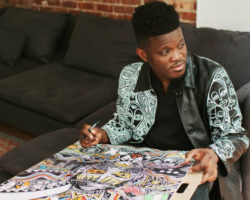 His name is Laolu Senbanjo and he is changing the world, one painting at a time!